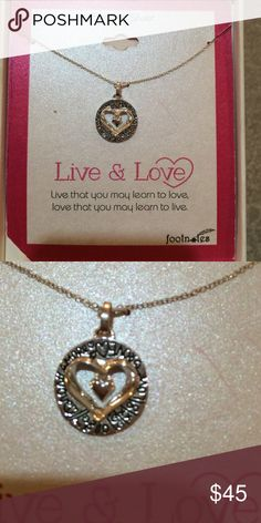 Necklace Sterling silver still in box necklace. The inscription says: live that you make learn to love, love that you may learn to live. Jewelry