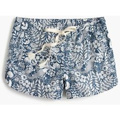 J.Crew Easy Short ($79) ❤ liked on Polyvore featuring shorts, j crew shorts, floral printed shorts, print shorts, vintage shorts and flower print shorts