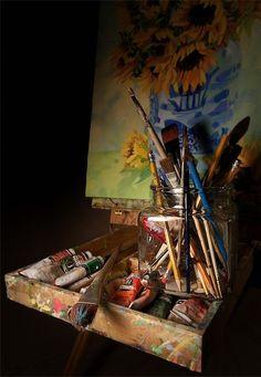 Artist Studio - Easel Still Life  dapixara.com