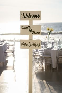 Welcome to the reception by the beach at Riviera Nayarit.  Photo by Edmonson Photography.