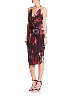 d63ddd36bf7 Kempner - Olivia Printed Knit Wrap Dress