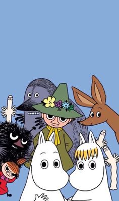 Do you know the Moomin characters? I stumbled on these books by Swedish author Tove Jansson one summer when I was young and have loved them ever since! Moomin Wallpaper, Cute Disney Wallpaper, Cute Cartoon Wallpapers, Iphone Wallpaper, Happy Wallpaper, Screen Wallpaper, Les Moomins, Moomin Valley, Tove Jansson
