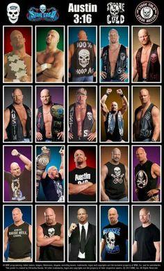 Evolution of Stone Cold Steve Austin