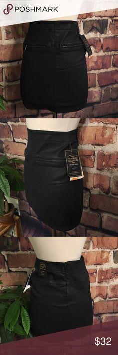 NWT Zara mini jean skirt NWT Zara mini dark blue denim skirt. Really dark blue that almost looks black. •••first picture for styling purposes only Zara Skirts Mini