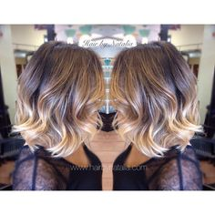 Balayage Short Hair | Balayage Ombré Sombre on short hair. Balayage Ombré…