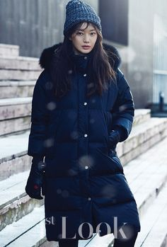 Shin Min Ah, whom we haven't seen for quite a while – looks gorgeous all decked out for winter on the cover of November's 1st Look. Check it out! Source   1st Look