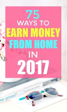 Looking for ways to earn money from home? Here are more than 75 work at home jobs for stay at home moms and others!