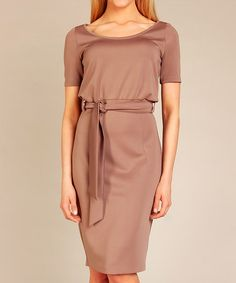 Take a look at this Cappucino Naomi Dress by Karen on #zulily today!