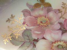 Antique Handpainted China Bowl Wild Roses Schumann Arzburg Germany Relish Dish | eBay