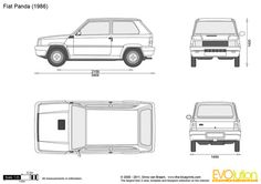 Fiat Panda Panda Drawing, Transit Custom, Fiat Panda, 4x4, Camper, Blue Prints, Vehicle, Racing, Trucks