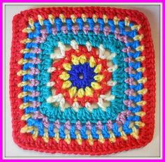 Window Star square, free pattern  by Laura Miller of My House in Africa  #crochet #motif