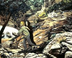 NADA ACKEL. ARNO & KURT, 1999. Huile sur toile (oil on canvas), 130x163 cm.