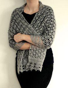 Articoli simili a Crochet pattern Pdf- lacy crochet shawl su Etsy Crochet Wrap Pattern, Crochet Shawl, Crochet Stitches, Crochet Patterns, Double Crochet, Single Crochet, Prayer Shawl, Mohair Yarn, Beautiful Crochet