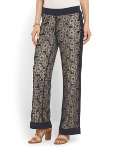 image of Lace Overlay Pant