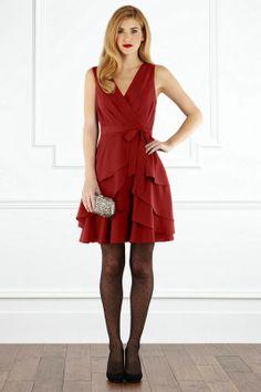 Nadina RED belt Dress