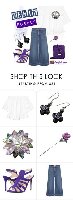 """""""In love with Denim and  Purple!"""" by stuff4uand4u ❤ liked on Polyvore featuring Elizabeth and James, Judith Jack, SJP, Frame, Vera Bradley and stuff4uand4u"""