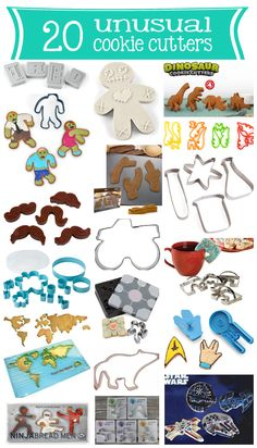 cookie cutters ~ 20 unusual ones