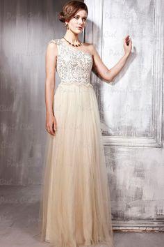 Designer Dresses  Precioso Largos Crema Tul