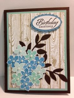 Petite Petals  Birthday Card Stampin' Up! Rubber Stamping Handmade Cards