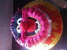 Animal-muppets cake