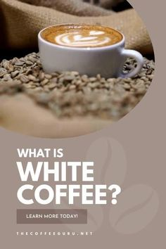I know what you're thinking... no this isn't coffee with milk. White coffee has been around for years... an old Yemen tradition to roast coffee a low temperature, this coffee has a low bitterness and nice nutty after taste. Want to learn more? Check out our guide today! #yemencoffee #whitecoffee #whatiswhitecoffee #nuttycoffee #typesofcoffeebeans Coffee Tasting, Coffee Drinks, Types Of Coffee Beans, Arabica Coffee Beans, Coffee Facts, Bitterness, Coffee Type, Natural Sugar, White Coffee