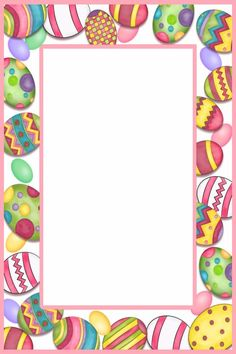Free Easter border. Great for posters and signs.