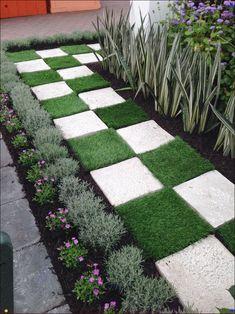 50 Stunning Spring Garden Ideas for Front Yard and Backyard Landscaping Garden Yard Ideas, Backyard Garden Design, Garden Landscape Design, Small Garden Design, Garden Art, Garden Paths, Backyard Ideas, Walkway Garden, Front Yard Garden Design