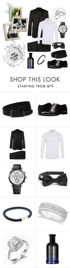 """Nameless #27"" by boondock-saint1999 ❤ liked on Polyvore featuring Baron Von Fancy, ADAM, HUGO, BOSS Hugo Boss, Labinjoh London, Allurez, men's fashion and menswear"