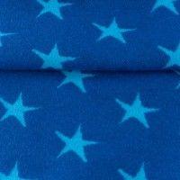 hochwertige Jaquard-Bündchen mit Sternen mittelblau/skyblau