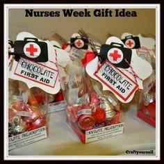 Chocolate First Aid - Nurses Gift Idea - Craft
