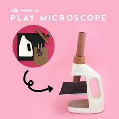 Feb 2020 - Recycle a plastic bottle to make your own pretend play microscope with these easy steps. Let them role play being a scientist with their very own microscope Science Projects For Kids, Science For Kids, Science Activities, Activities For Kids, Diy For Kids, Crafts For Kids, Toy Craft, Recycled Crafts, Recycled Materials