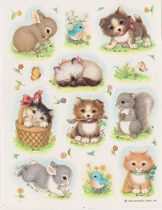 Vintage BEAUTIFUL CRITTERS Sticker sheet by HALLMARK
