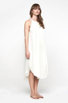 heidi merrick. white slip dress. summer.