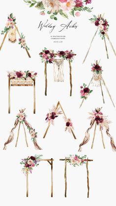 Wedding Cards, Diy Wedding, Wedding Invitations, Wedding Aisles, Wedding Canopy, Wedding Backdrops, Boho Wedding Decorations, Wedding Ceremonies, Ceremony Backdrop