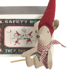 Matchbox Christmas Baby Boy Mouse. The Chic Country Home