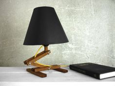 Plat I  textile colored cable wooden table lamp with by Paladim, $56.00