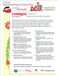 Reading tips for parents  Spanish: Pre-K