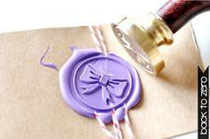 Bow Ribbon Gold Plated Wax Seal Stamp x 1 by BacktoZero on Etsy, $20.