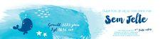 Collectie 2 | Gaafkaartje | Unieke geboortekaartjes | Illustratie | children Illustration | jongen | blauw | zee | vissen | walvis | sterren | vis | stoer