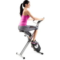 Weslo X Bike Upright Folding Exercise Bike with Adjustable Resistance Exercise Equipment For Sale, Cardio Equipment, Home Gym Equipment, Fun Workouts, At Home Workouts, Folding Exercise Bike, Bike Folding, Quiet Workout, Squat Machine