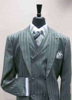 mens pin stripe suits