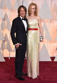87th Academy Awards - Arrivals Keith Urban, left, and Nicole Kidman arrive at the Oscars on Sunday, Feb. 22, 2015, at the Dolby Theatre in Los Angeles. (Photo by Jordan Strauss/Invision/AP)