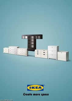 Create more space - IKEA }-> repinned by www.BlickeDeeler.de