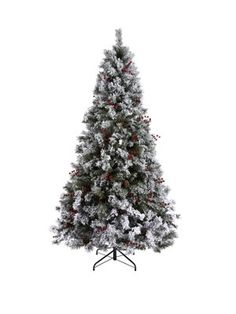 Bavarian Pine Christmas Tree with Snow - 6ft, http://www.isme.com/bavarian-pine-christmas-tree-with-snow-6ft/1298702158.prd