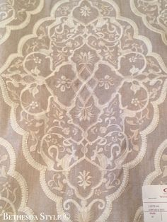 #BethesdaStyle ~ Master Bedroom Curtain Fabric ~ Tabriz ~ by Cowtan and Tout ~ Interior Design by #AndrewLawInteriorDesign