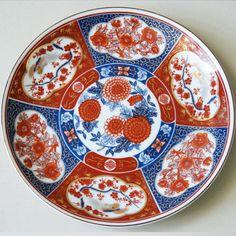 Antique vintage Japanese gold Metallic graphic porcelain Imari Plate  sc 1 st  Pinterest & Japanese Antique Imari Porcelain Bowl with Ship