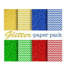 GLITTER DIGITAL PAPER  Printable Paper Pack  by DigitalAlice