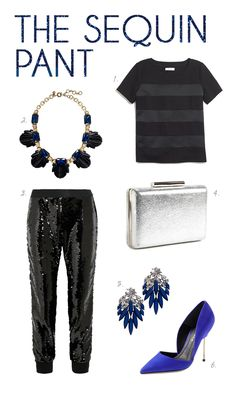 sequin pants for new year's eve!