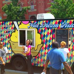 Nice Dream, Washington DC - Food Trucks | Okay, when is the next Food Truck… Dream Ice Cream, Washington Dc Restaurants, Bike Food, Mobile Cafe, Dc Food, Food Truck Festival, Nice Dream, Meals On Wheels, Vehicle Wraps