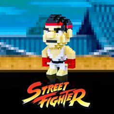 Puzzle 3D Street Fighter Ryu 8 bits